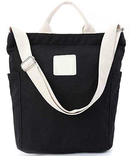 Nowbetter Bolso de lona para mujer, bolso de mano, bandolera, tiempo libre, trabajo, escuela, compras, bolso de mano