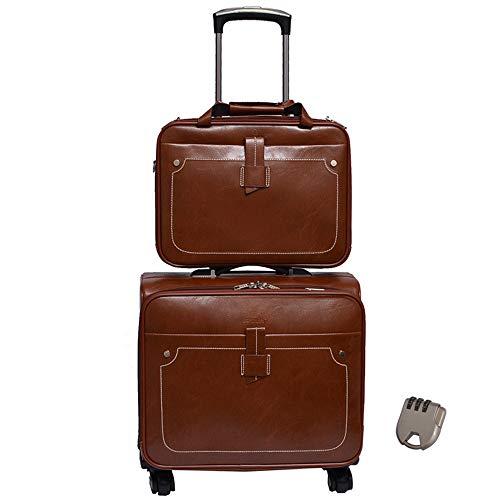Luggage Wheeled Travel Duffel Bag, Leather Trolley Bag, Large-Capacity Travel Garment Bags, Waterproof Duffle Bags for Men, Best Weekend Bag