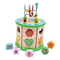 yotijar 木製インテリジェンスビーズキッズ子供幼児教育形カラフルなおもちゃ