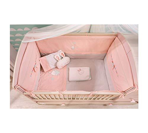 dafnedesign.COM – Linge Baby pour Chambre bébé – Dimensions : 80 x 130 cm – [série : Dafne-Rosa] – (DF11)