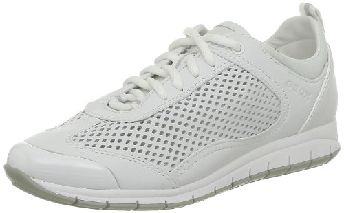 Geox Damen D Contact M Sneaker, Weiß (Off WHITEC1002), 42 EU