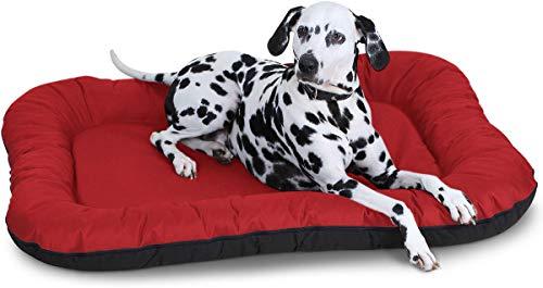 Knuffelwuff Hundebett Lucky In und Outdoor Hundekissen Hundesofa Hundekörbchen Hundekorb, Größe XXL Rot