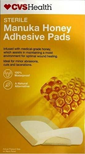 CVS Health Sterile Manuka Honey Adhesive Burn Pad (3' x 8' Pads) 3 Pads