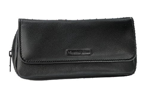 """Martin Wess Germany """"Lea"""" Soft Nappa Leather 1 Pipe Combo Case Tobacco Pouch"""