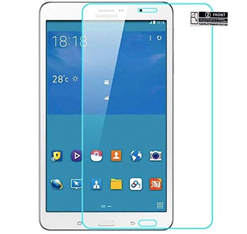CAIDEN GUARDS 9H Unbreakable Screen Protector Compatible with SAMSUNG GALAXY TAB 4 SM-T230 T231 T235 (7 Inch) Full Screen Coverage (Except Edges) With Installation Kit [Transparent]