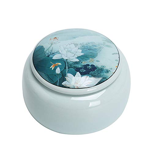 LIUXING-Home Carrito De Té De Cerámica Las latas de cerámica de los latas de Almacenamiento Selladas Son adecuadas para Todo Tipo de Comidas y condimentos de Cocina Tanque De Almacenamiento Universal