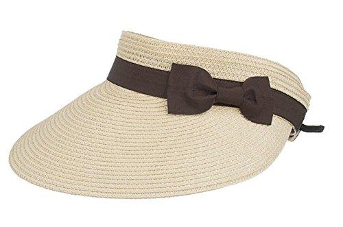 FENGFA Fengfa Visoren Long Brim Empty Top Hüte Damen Sommer Sonnen Visor Sonnenschutz (Beige)