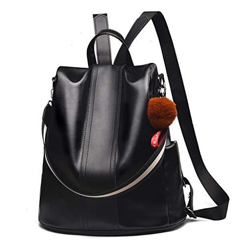 XIAN Women Backpack Purse PU Leather Anti-theft Backpack Casual Satchel Shoulder Bag