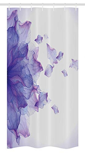 """Ambesonne Flower Stall Shower Curtain, Abstract Themed Modern Futuristic Image with Water Like Colored Artwork Print, Fabric Bathroom Decor Set with Hooks, 36"""" X 72"""", Lilac Pink"""