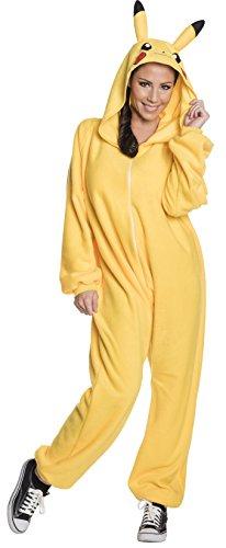 Rubie's 820058-STD Pokémon Pikachu Adult Costume Jumpsuit, Standard