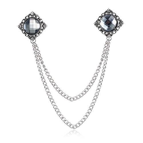 THTHT Dames Mens Crystal Broches, zilveren ketting, bruiloft, accessoires, bussiness pakken en evenementzalen, broche corsage party