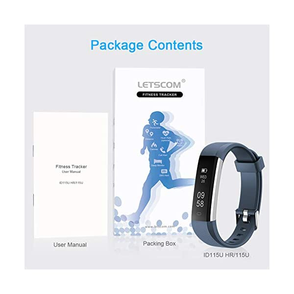 Fitness Tracker, letscom deportes Fitness Tracker reloj con Slim pantalla táctil, pulsera de actividad Tracker como… 5