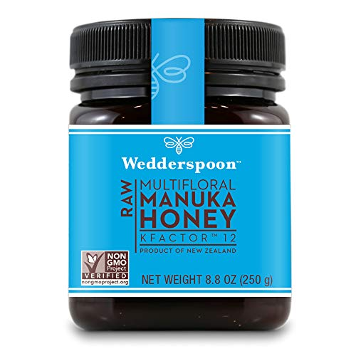 Wedderspoon Raw Premium Genuine New Zealand Manuka Honey, 8.8 Ounce