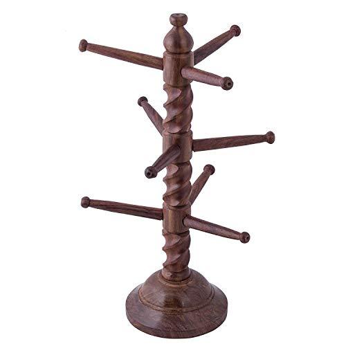 Soporte de pulsera hecho a mano de madera | Tipo de árbol (torcido) | Reloj | Tobillera | Regalo para niñas y mujeres | Decoración de mesa | Cumpleaños