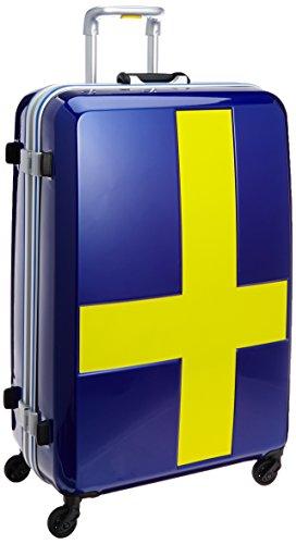 [イノベーター] スーツケース 受託手荷物無料サイズ カードロック ベーシックモデル INV68T 保証付 90L 76 cm 4.8kg ブルー/イエロー