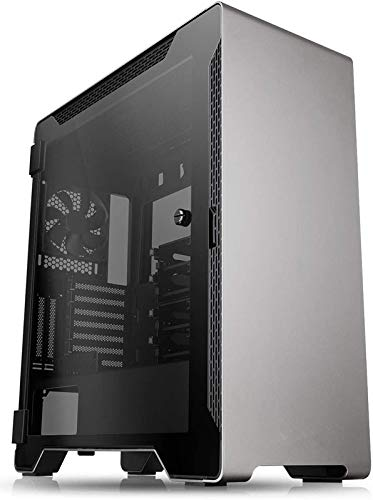Mini Tower Computer Case TT-71 PC Computer Case with Tempered Glass, Pre-Installed RGB Fan with 10 Backlit Modes and LED Light Strip, 240mm AIO and 390mm VGA Support, Bottom Mount PSU