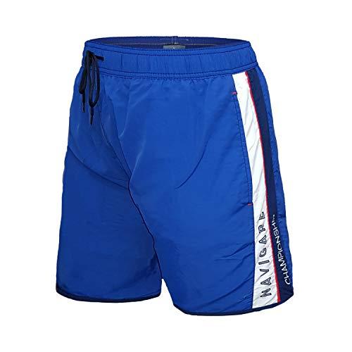 Navigare Costume Uomo Boxer Nylon Calibrato Taglie Forti Oversize Art. 998345 (4XL, Bluette)
