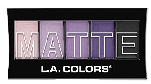 L.A. COLORS 5 Color Matte Eyeshadow, Purple Cashmere, 0.08 Ounce, 1 Count (Pack of 1) (CEM473)