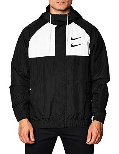 Nike M NSW Swoosh JKT HD WVN Fleece Men Black/White/Grey - XXL - Sweaters