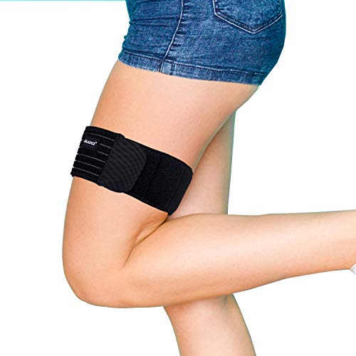 2U2O Thigh Brace-Adjustable Compression IT Band Upper Leg Wraps for Knee Pain, Hip, Thigh & ITB Syndrome Support –Athletic Stabilizer for Men, Women