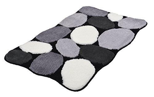 Kleine Wolke 8972926311 Badteppich Stone , 70 x 120 cm, schwarz