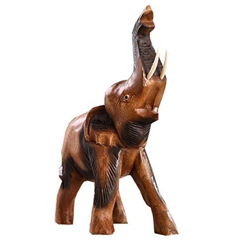 Effen hout Ornament olifant sculptuur kantoor geschenk Keepsake gift TV kast Wijnkast desktop Entree woonkamer aanwezig (Kleur : M)