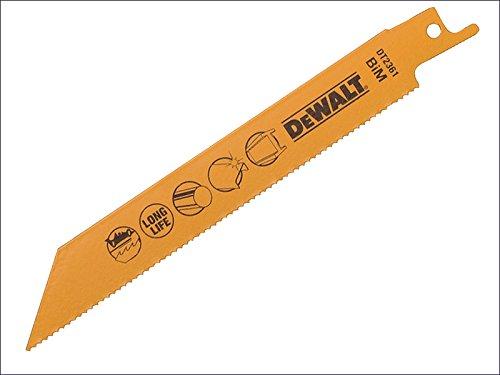 DeWalt - Hoja de sierra bimetálica de corte rápido en metal y chapa de metal, 152 mm, paquete de 5