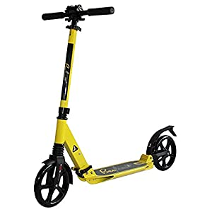 BeeFree XLT Kick Scooter for Teens and Adults – 2 Wheel Scooter with Foldable/Adjustable Handlebars, Durable Welded Aluminum Construction, Rear Foot Brake, Kick Scooter for Ages 12+, RPBFS3Y