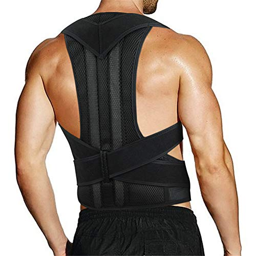 ZYFWBDZ Masculino Femenino Órtesis de la Espalda Espalda Soporte Lumbar Soporte de la Postura del Hombro Soporte Ajustable Alineador de la Columna Vertebral Entrenador de la Postura,L ✅