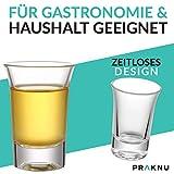 12 Schnapsgläser Shotgläser Set Glas 4cl | Standfest - Spülmaschinenfest | Pinnchen Gläser für Tequila Wodka - 3