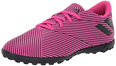 adidas Unisex-Kid's Nemeziz 19.4 Turf Soccer Shoe, Shock Pink/Black/Shock Pink, 3.5 M US Big Kid