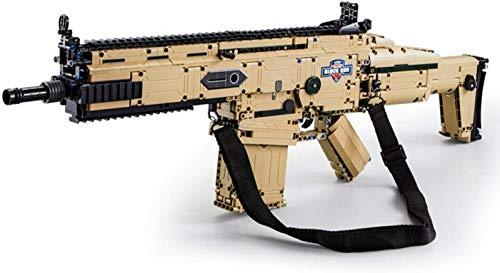 Technik Scar Modelo de Rifle de Asalto, Bloques de Construcción, Kit de Armas de Rifle don Función de Disparo, 1406 Piezas Compatibles con Ladrillos Lego