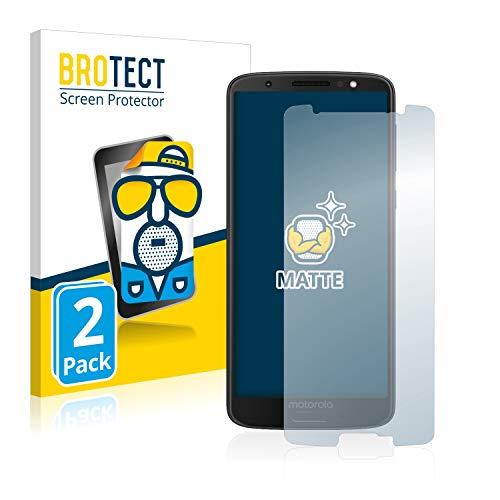 BROTECT 2X Entspiegelungs-Schutzfolie kompatibel mit Motorola Moto G6 Bildschirmschutz-Folie Matt, Anti-Reflex, Anti-Fingerprint