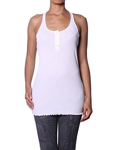 Pierre Balmain Camiseta sin Mangas Acanalada para Mujer - Blanco, XS