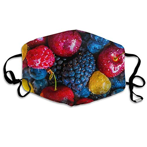 Unisex gezicht hoes, verstelbare oorlus mondhoes, herbruikbare gezicht beschermer, heerlijk fruit gedrukt ademende warme Respirator, monddemping, gezicht decoratie