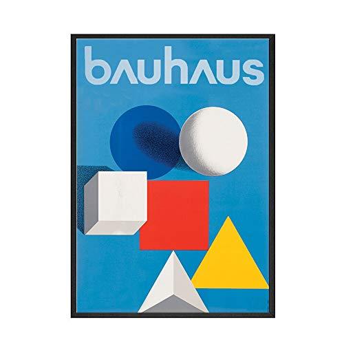 Póster de exposición de Bauhaus Ausstellung, carteles artísticos de pared y muebles para el hogar impresos, pintura en lienzo sin marco A1 50x75cm