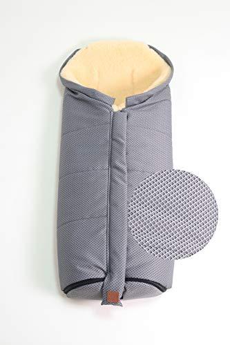 Kaiser 6721212 - Saco de abrigo para carrito de bebé (tamaño XL, piel de cordero, 1,2 kg), color gris