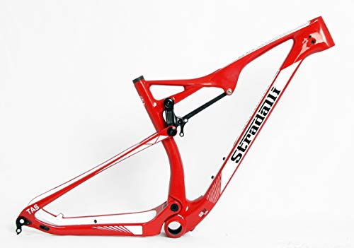 Stradalli 29er Red Edition Full Carbon Dual Suspension Cross Country XC Mountain Bike Frame - 19'