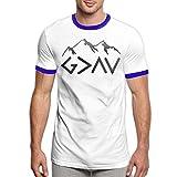 Charity Packer Dieu est Plus Grand Que Les Hauts et Les Bas Tee-Shirts T-Shirt pour Hommes à la Mode T-Shirt Confortable à Manches Courtes
