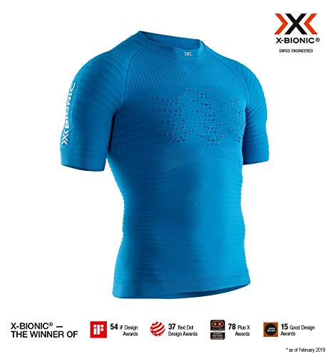 X-Bionic Effektor 4.0 Run Chemise Homme, Teal Blue/Dolomit Grey, FR : S (Taille Fabricant : S)
