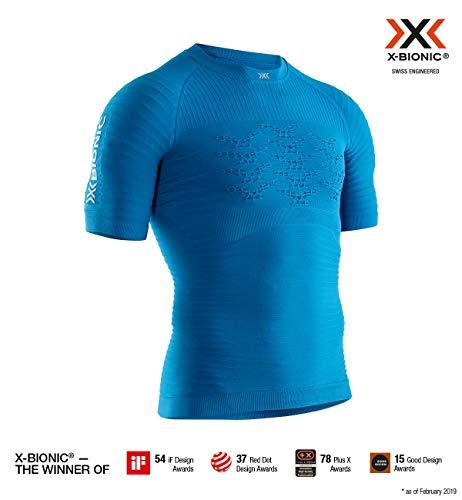 X-Bionic Effektor 4.0 Run Chemise Homme, Teal Blue/Dolomit Grey, FR : 2XL (Taille Fabricant : XXL)