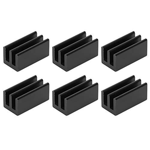 Radiador de refrigeración de Aluminio, Enfriador de CPU de Aluminio 20 Piezas Q8.5x8x16 Resistente y Duradero para radiadores IC para enrutadores para CPU