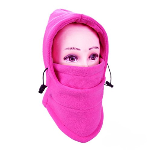 Balaclava Ski Face Mask Windproof Men Women Warm Hood Winter Masks Thermal Fleece Fabric with Breathable Vents for Cold Cycling Skiing Motorcycle Face Hats (J)