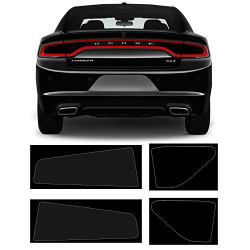 Bolaxin Dark Smoke Vinyl Tail Light Tint Kit Compatible with Dodge Charger 2015-2020