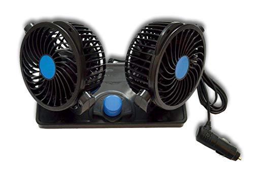 12 V Doppelventilator, 360 Grad, für Van, Auto, LKW, Wohnwagen, Wohnmobil