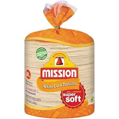 Mission White Corn Tortillas (4.16 lb., 80 ct.)