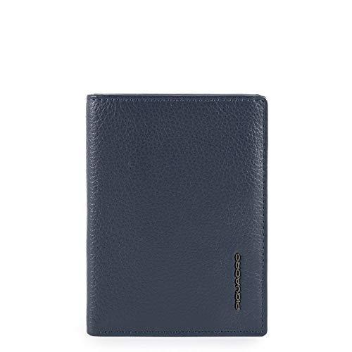 Piquadro Modus Special Porta Carte di Credito, 12 cm, Blu