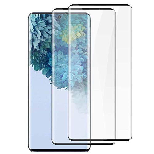 "2 Pack Galaxy S20+ (6.7"") Screen Protector Tempered Glass 9H Hardness 3D Curved Full Coverage HD Protetive Film Fingerprint Compatible for Samsung Galaxy S20+/S20 Plus"