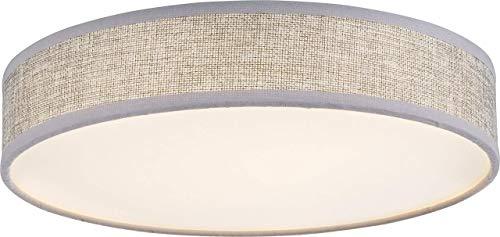 Luxe LED plafondlamp werkkamer textiel scherm kantoor lamp grijs Globo 15185D1