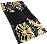 Grande banner con foglie tropicali dorate illustrazione vettoriale. L'asciugamano in microfibra è super morbido, assorbente e multifunzionale per bagno, palestra, spa,28.7*13.8pollici